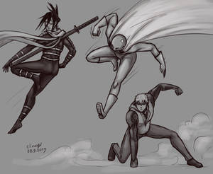 One Punch Man pose practice