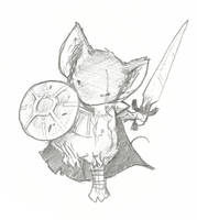 Sword and Shield Mouse by d20plusmodifier