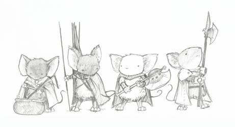 Four Guard Mice