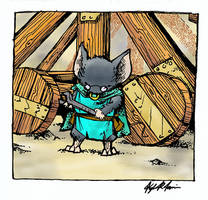My Dad as a Guard Mouse by d20plusmodifier