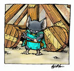 My Dad as a Guard Mouse