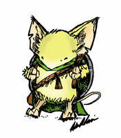 Shield Bearing Blonde Mouse by d20plusmodifier