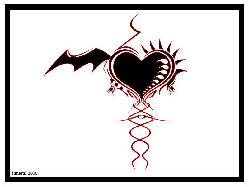 Bat Tattoos Devilians Goth Heart