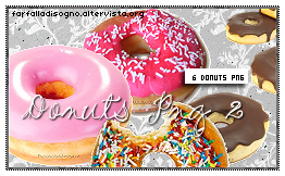 Donuts Png 2 by Farfalladisogno