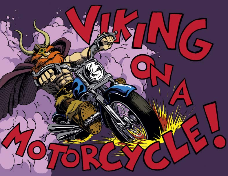 Viking on a Motorcycle by CrazyChucky