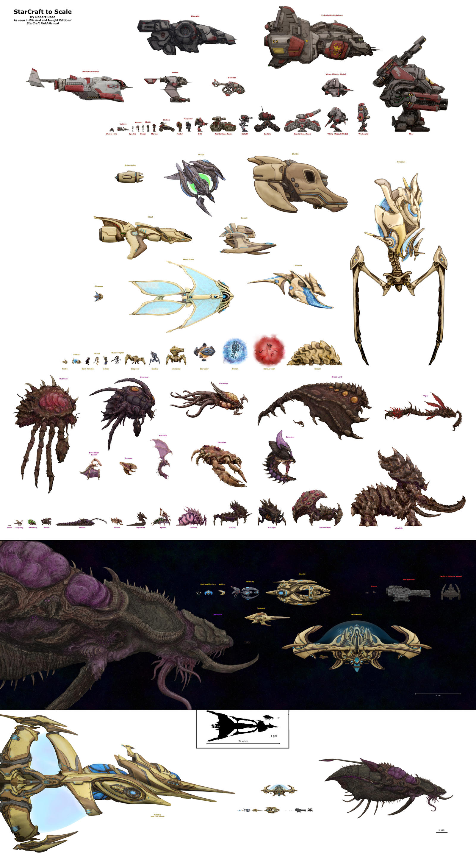 Starcraft to scale by xiaorobear on deviantart for Scale meaning in art
