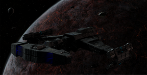 Terran Battlecruiser over Char