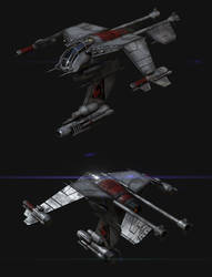 Terran Wraith model update WIP #2