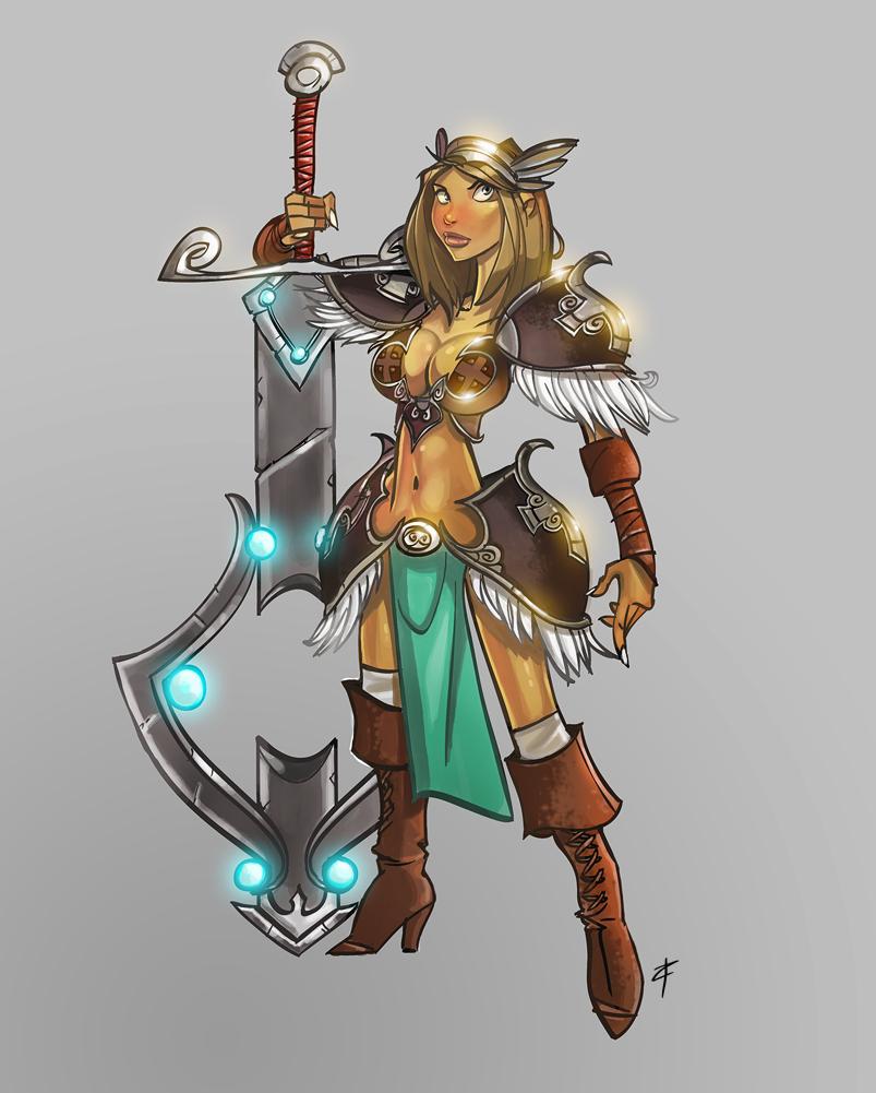 Female Fox Warrior A girl warrior concept byFox Girl Warrior