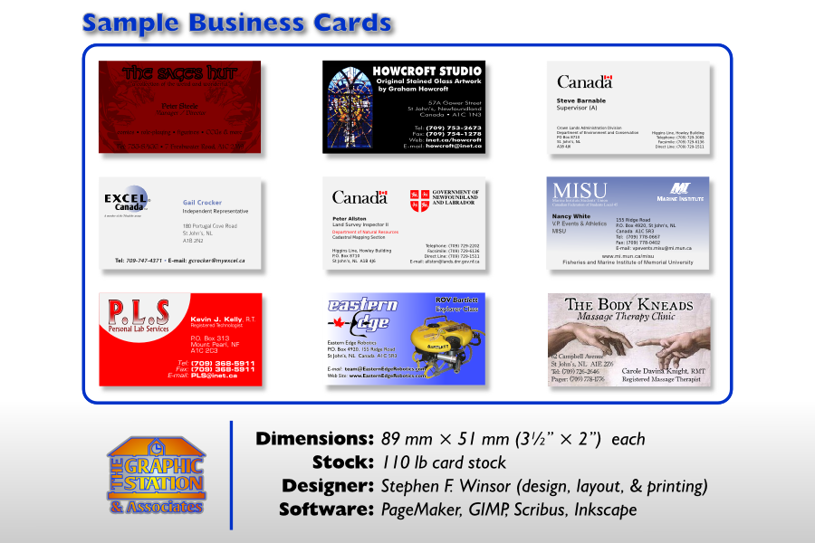 Sample Business Cards by TheGraphicStation on DeviantArt
