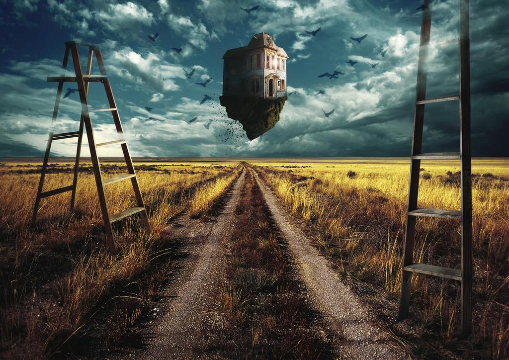 Flying House by bojanmustur