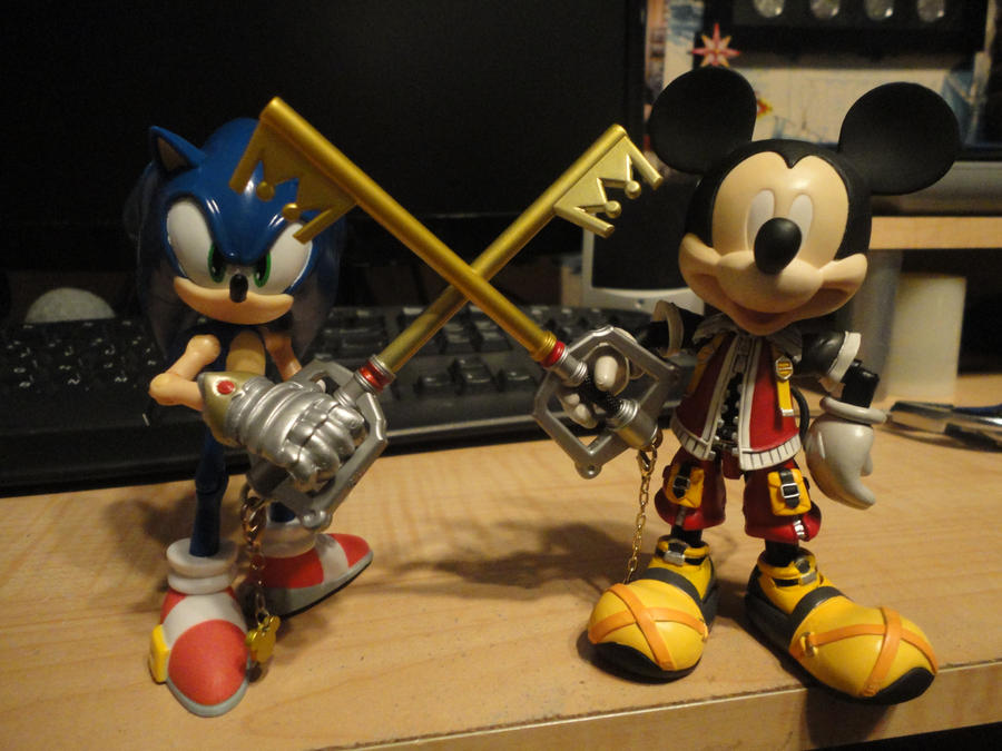 King Sonic and King Mickey by Vqstudios