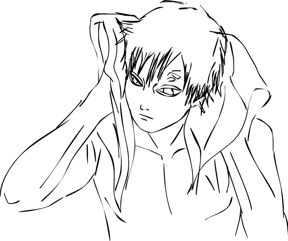gaara coloring pages - photo#23