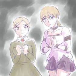 Jennifer and Fiona Sketch