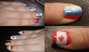 Hetalia flag nails