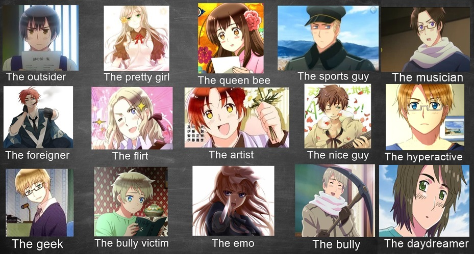 Hetalia school students meme by Bakeneko14