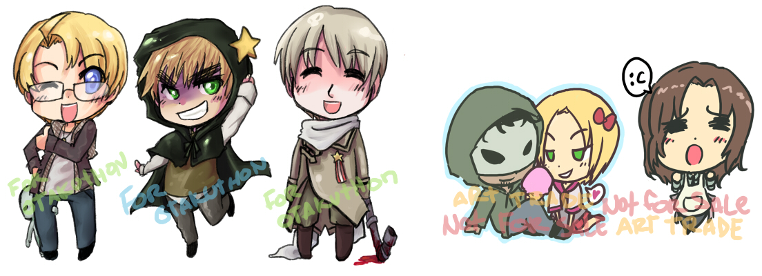 Hetalia Keychains group4 by T3hb33
