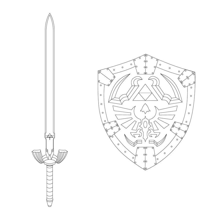 Zelda Shield Coloring Page Coloring
