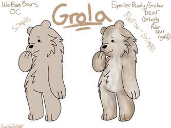 We Bare Bears OC // Grola by Sarahdawolf