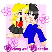Melony and Mokuba Chibi by Uchia-Sakura