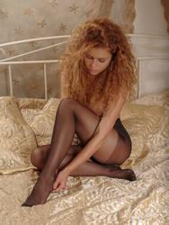 arranging her pantyhose by MarcBergmann