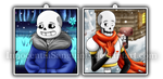 Undertale Pendants - Skele-Bros by InnocentiaSanguinis