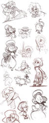 Sketches: Hyde and comics by otherwise
