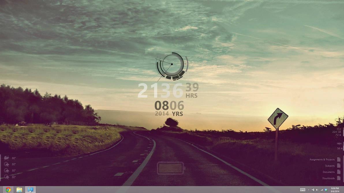 Rainmeter Desktop Setup - Mid 2014 (Windows 8)
