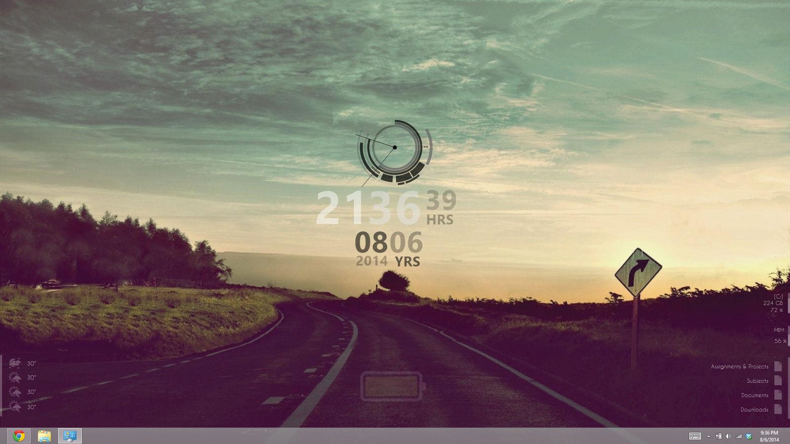 Rainmeter Desktop Setup - Mid 2014 (Windows 8) by kndllalx