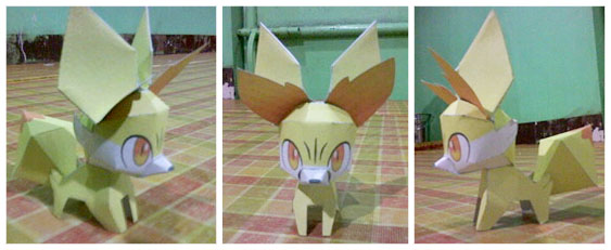 Fennekin Papercraft by jampertz