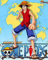 One Piece card #1 Luffy by Bejitsu