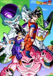 DBZ Goku and Gohan VS Villains by Bejitsu