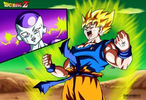 the legendary Super Saiyan Goku by Bejitsu