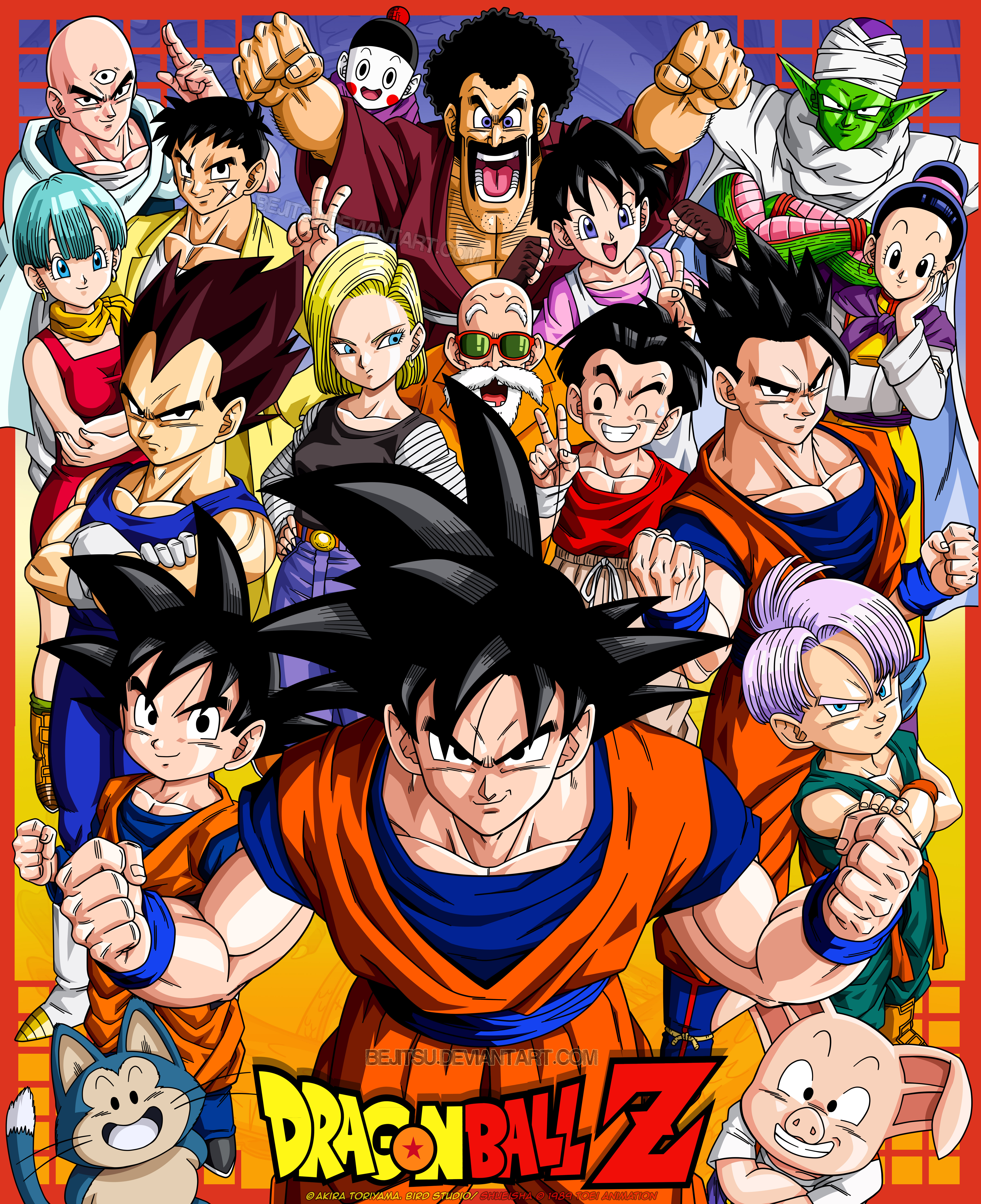 Goku and Friends by Bejitsu