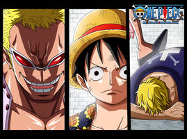 One Piece 759 - Doflamingo,Luffy,Bellamy by Bejitsu
