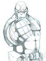 Hellboy Sketch by GDEAN