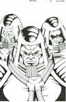 Man E Faces Ink