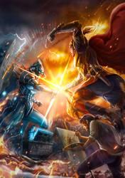 The Battle by ninejear