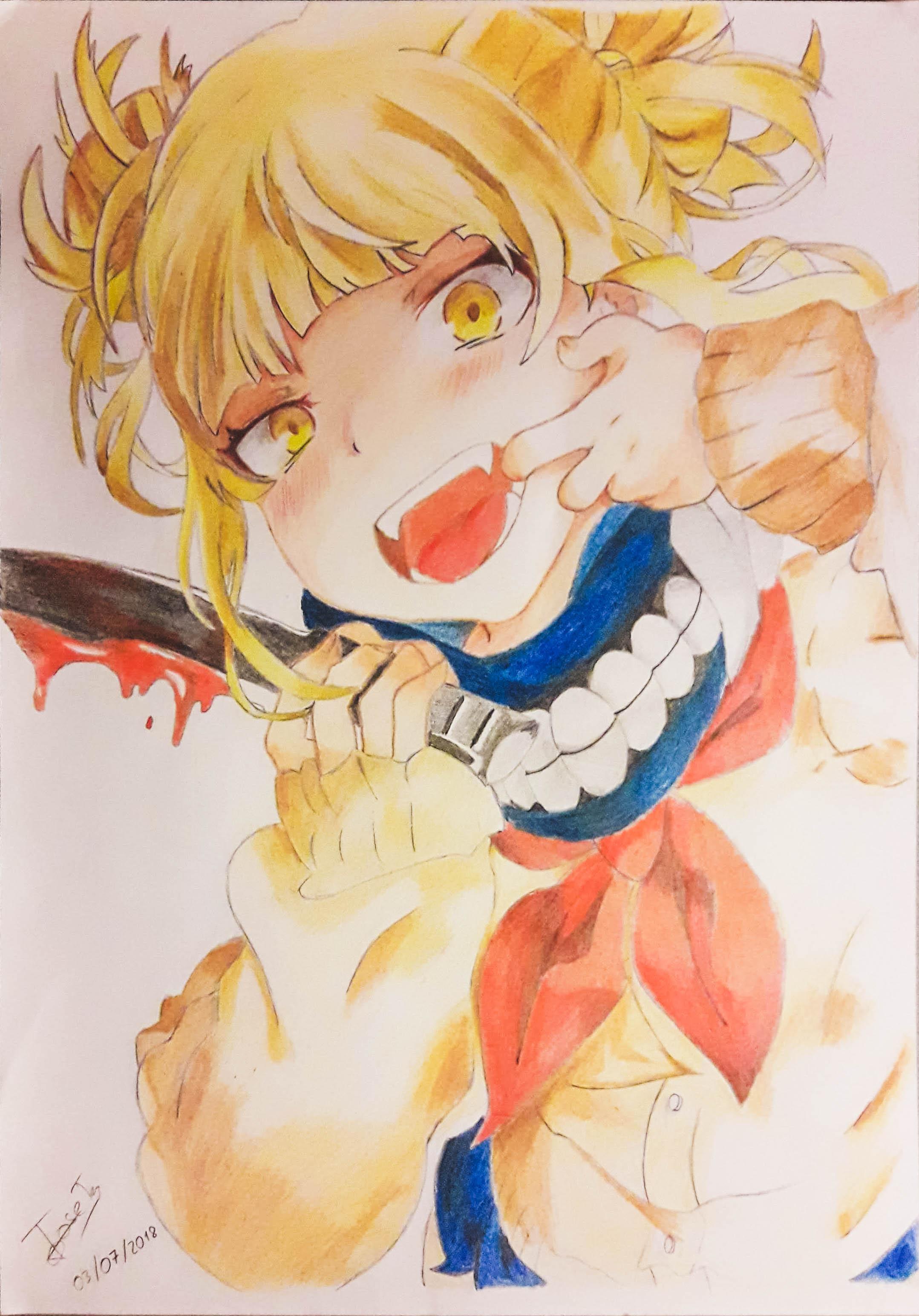 Himiko Toga Fanart Boku No Hero Academia By Ev3r9reen On Deviantart