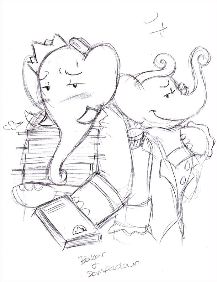 how to draw a pompadour