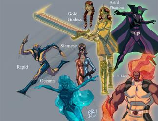 Characters Sheet by EricGuzman