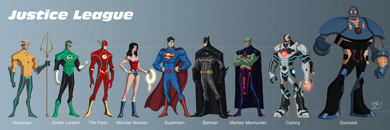 Cartoon Characters Justice League : Justice league new by ericguzman on deviantart