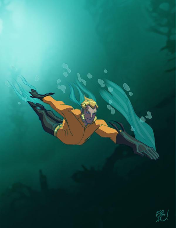 Swimming around by EricGuzman