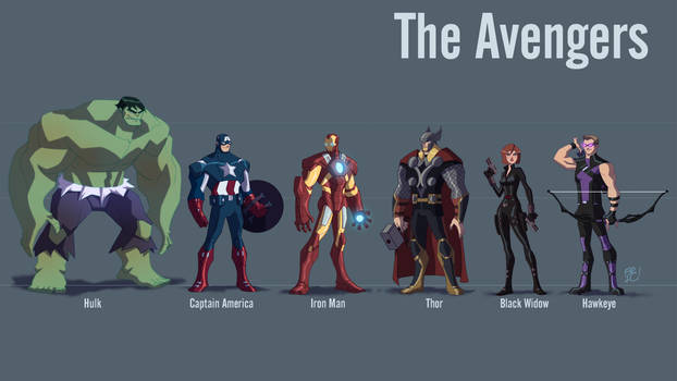 The Avengers Line Up