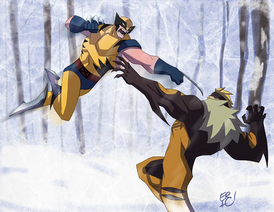 Wolverine Vs Sabretooth by EricGuzman