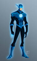 Blue Lantern Flash by EricGuzman