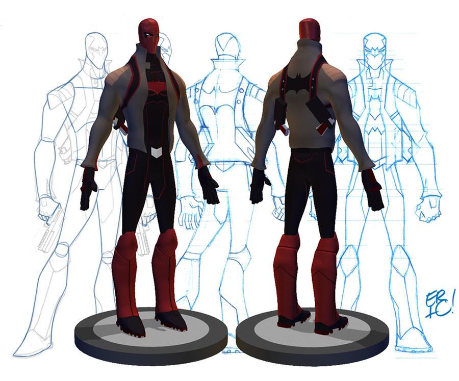 Red Hood Re-Design 3D Model by EricGuzman