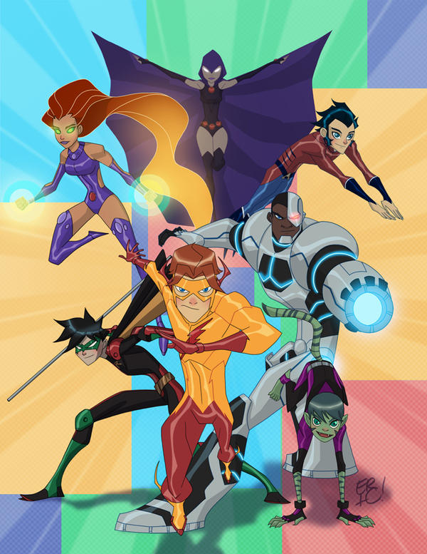 Teen Titans...........Go!! by EricGuzman