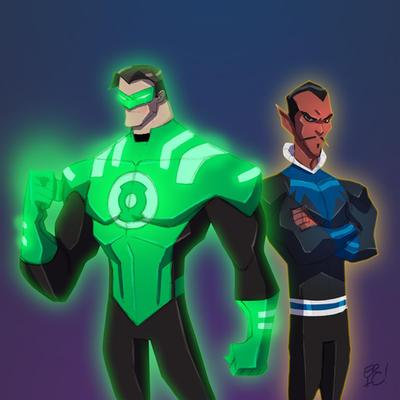 Hal Jordan and Sinestro by EricGuzman