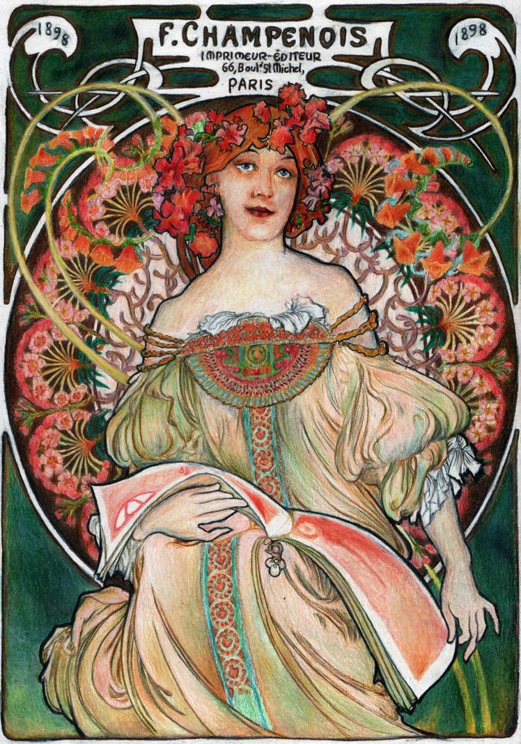 Mucha's F. Champenois by AnnaSulikowska
